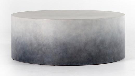 VTHY-001, sheridan, 4H, coffee, table, concrete, round, outdoor, modern, art, faded, indigo, grey, gray, patio, deck, lawn, design, designer, Ojai, California