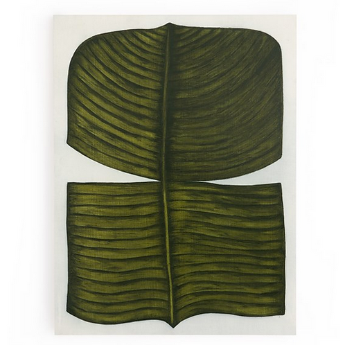 "Ficus Elastica (Banyan Fig) by Marianne Hendriks, 36"" x 2"" x 48"""