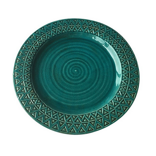 Teal Serving Plate