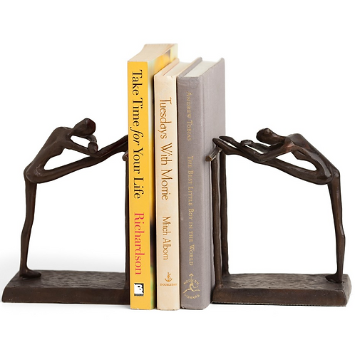 Cast Bronze Ballerina Bookends