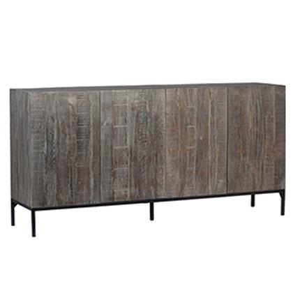 Distressed Oak Sideboard on Metal Base