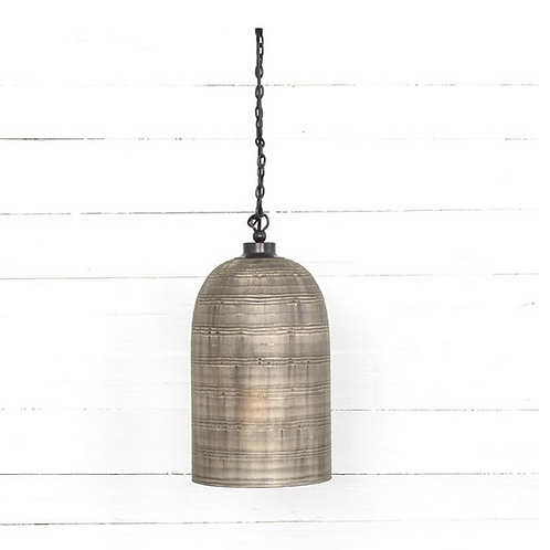 "Smoky Glass Pendant Light, 10""x10""x7"""