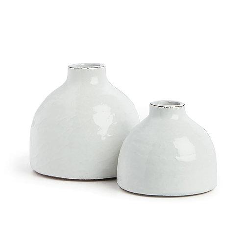 Crackled Ceramic Bud Vase