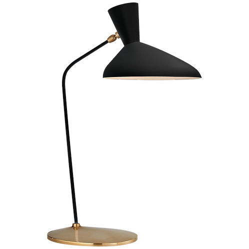 Matte Black and Brass Table Lamp