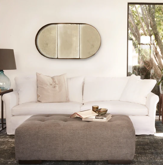 Custom Roll Arm Sofa
