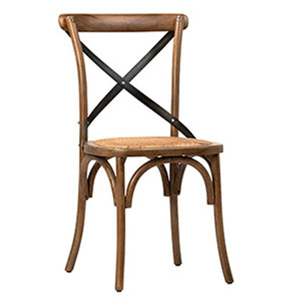Oak Dining Chair with Rattan Seat