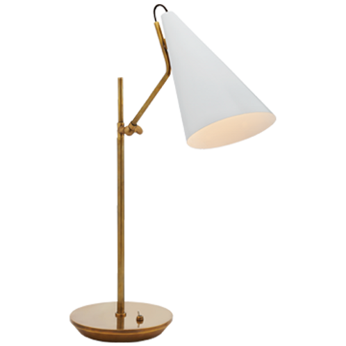 Table Lamp in Hand-Rubbed Antique Brass