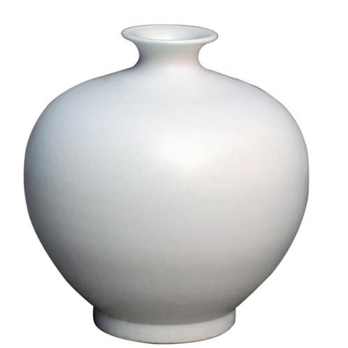 Matte White Ceramic Vase