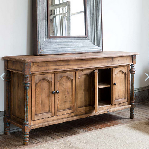 Pine Console with Carved Inset Legs