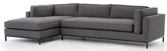 UATR-001-BCH, grammercy, sectional, sofa, chaise, grey, linen, home, furnishings, interior, design, Ojai, California