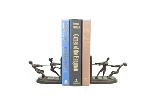 Cast Iron Tug of War Bookends