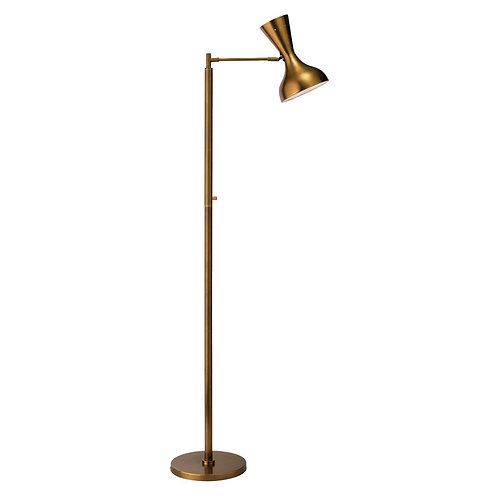 Brass Swing Arm Floor Lamp
