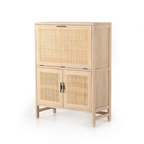 Mango and Cane Bar Cabinet