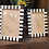 Thumbnail: Striped Black and White Bone Picture Frame