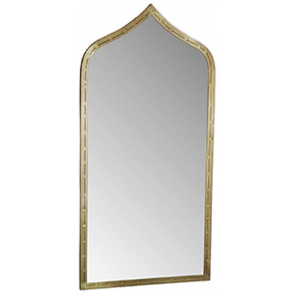 Brass Finished Ogee Mirror