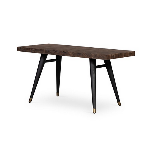 Reclaimed Wood Desk with Tapered Iron Legs