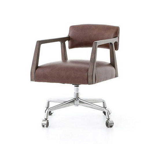 Modern  Desk Chair with Birch Wood Frame