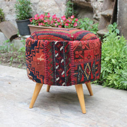 Antique Kilim Ottoman