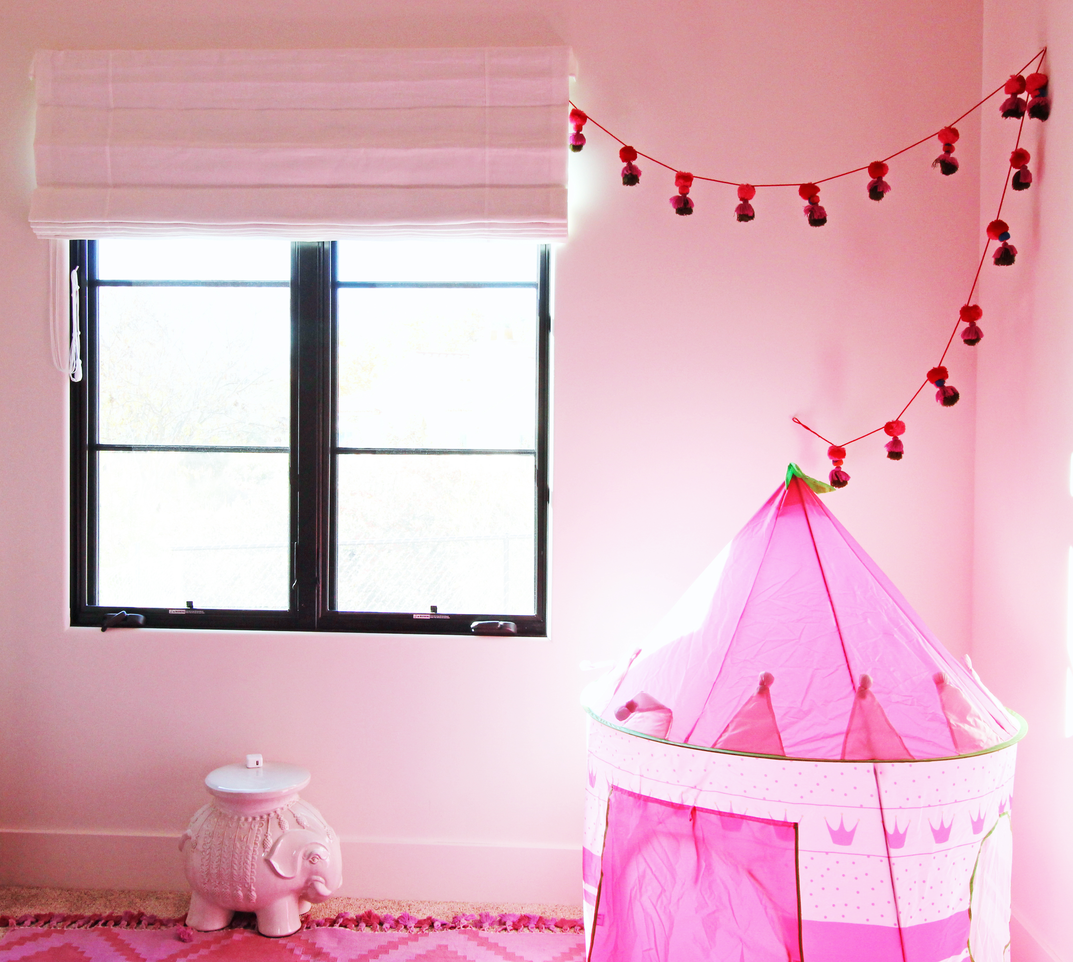 Girl's room: custom shade