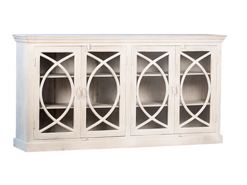 Mango Wood Sideboard in Natural White Paint Finish