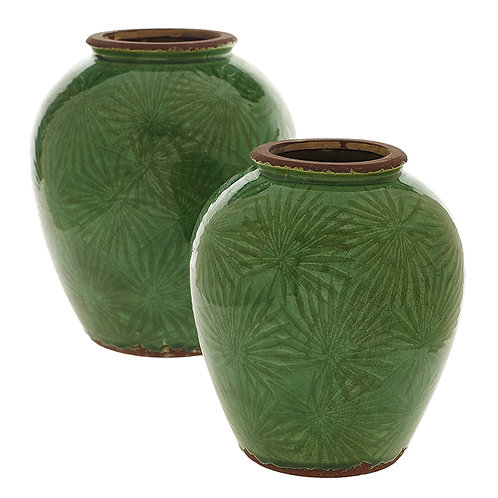 Vase with Tropical Design