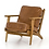 Thumbnail: Lounge Chair in Distressed Top Grain Leather