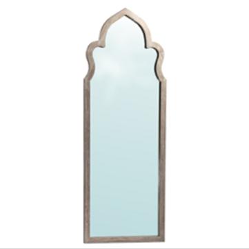 """Moorish Style Floor Mirror with Oak Frame, 32"""" x 87"""""""