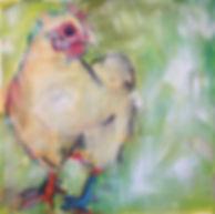 Kate, Hoffman, art, artist, local, wall, canvas, oil, Ojai, California, Southern, CA, Ventura, county, original, signed, chicken, farm, animals