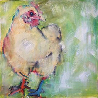 Kate, Hoffman, art, artist, local, wall, canvas, oil, Ojai, California, Southern, CA, Ventura, county, original, signed, chicken, farm, animals