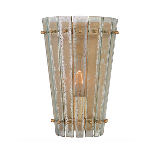 Antiqued Mirror Wall Sconce