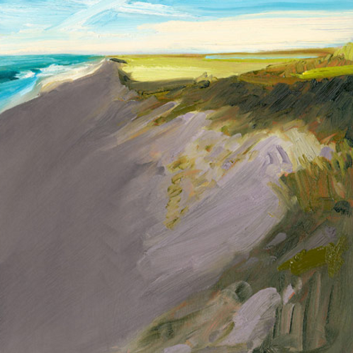 """Outermost Dune, Painting by Pete Hocking, 49.5"""" x 49.5"""""""