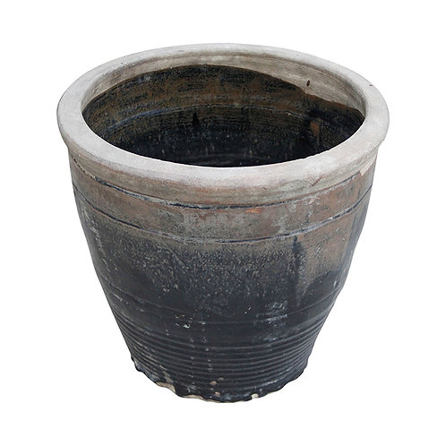 Vintage Style Two Tone Dripped Glaze Porcelain Pot