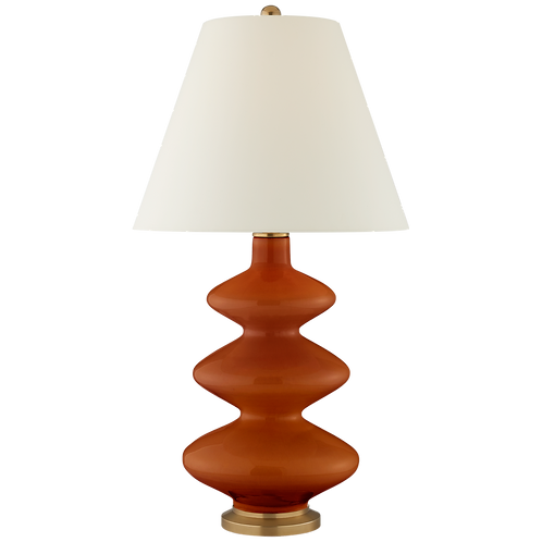 Red Ceramic Table Lamp