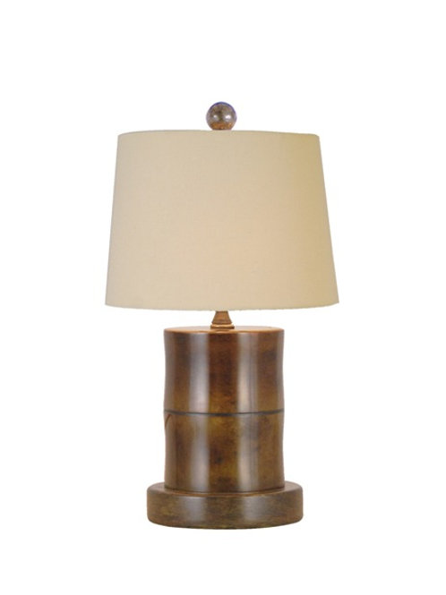 Small Brown Jade Table Lamp