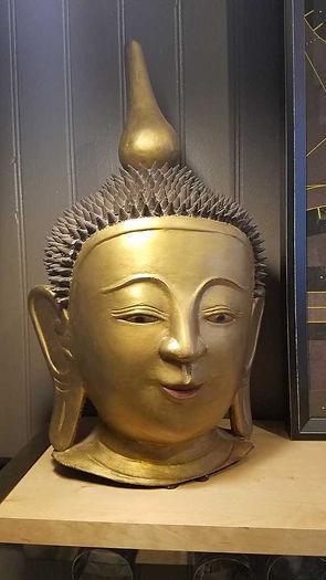 paper, mache, papier, mâché, buddha, head, gold, vintage, antique, burma, burmese,20190423_122534_1024.jpg
