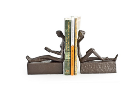 Cast Iron Couple Bookends