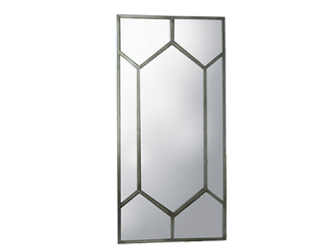 Standing Mirror with Mosaic Soldered Frame
