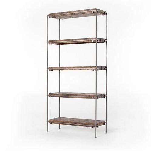 Weathered Hickory Mango Wood Bookshelf