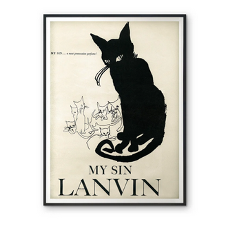 My Sin Lanvin Poster Reproduction