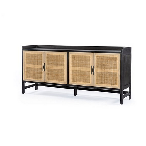 Mango Sideboard with Cane Doors and Iron Handles