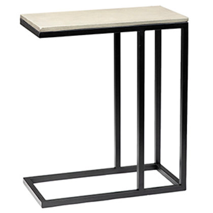 Concrete and Steel Side Table