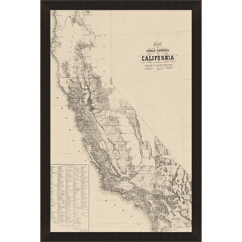 Vintage California Map
