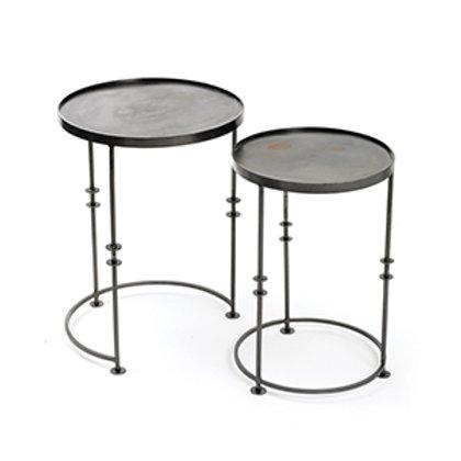 Industrial Metal Nesting Side Table Set