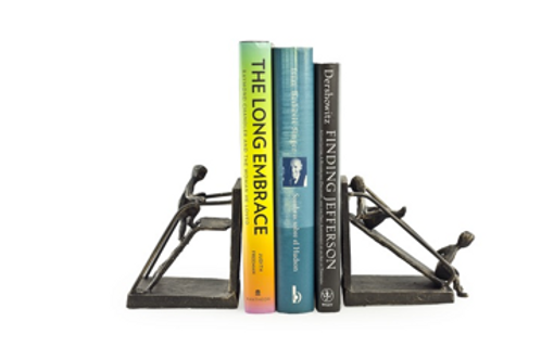 Cast Iron Children at Play Bookends