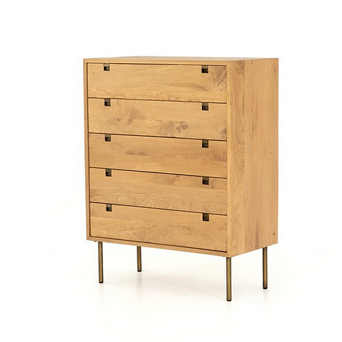 Solid Oak Dresser with Iron Hardware