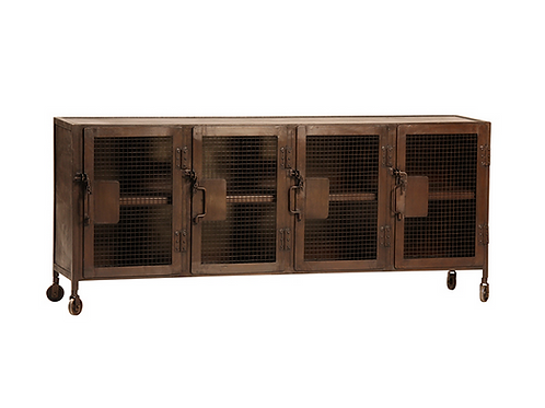 Steel Sideboard with Antique Rusted Finish