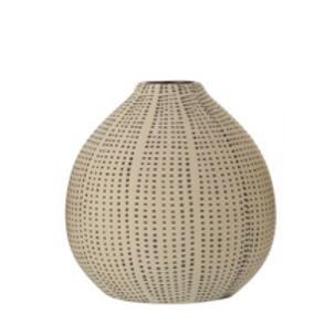 Matte Black and White Ceramic Vase