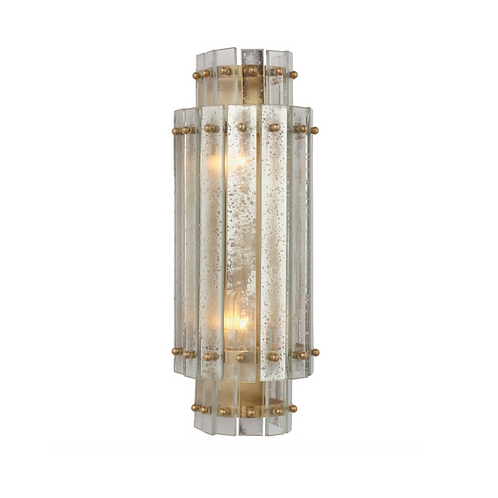 Tiered Antiqued Mirror Wall Sconce