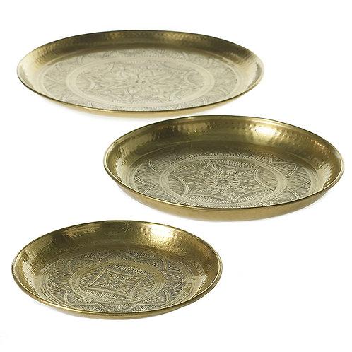 Embossed Brass Tray