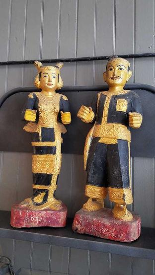 wood, wooden, hand, carved, vintage, antique, painted, nat, nats, couple, pair, myanmar, burma, burmese, 20190423_125428_1024.jpg